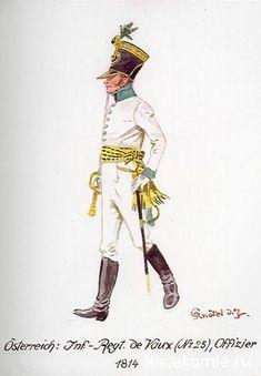 Austria; Infantry Regt de Vaux(No 25) Officer 1814