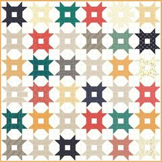 Vintage Domino Star - Free Quilt Pattern - Jelly Roll