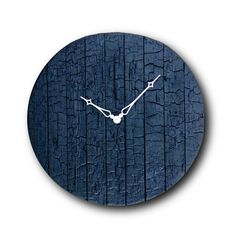 Burned wood clock Wall clock Home decor Original by Inthetime