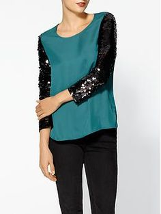 Ark & Co. Sequin Sleeve Blouse | Piperlime