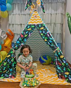 Dinosaur Theme Party Ideas Kids Teepee Tent, Play Tents, Teepees, A Frame Tent, Teepee Party, Party Themes, Party Ideas, The Good Dinosaur, Dinosaur Birthday Party