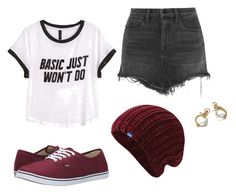 """""""Cute Casual"""" by mckenzieh55 ❤ liked on Polyvore featuring moda, Keds, Alexander Wang, Vans, H&M ve Jessica de Lotz Jewellery"""
