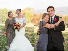 Bride and Groom with Mothers - Berkshire County Fall Wedding - Tricia McCormack Photography