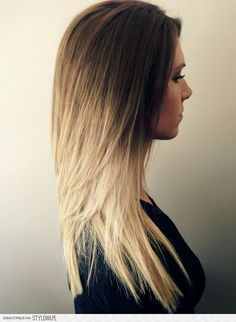 brown to white blonde ombre - what i have going on right now