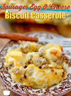 egg, cheese biscuit casserole Sausage, Egg & Cheese Biscuit Breakfast Casserole recipe from The Country CookSausage, Egg & Cheese Biscuit Breakfast Casserole recipe from The Country Cook Easy Breakfast Casserole Recipes, Breakfast Casserole With Biscuits, Breakfast Bake, Breakfast Dishes, Best Breakfast, Breakfast Ideas, Brunch Ideas, Sausage Casserole, Sunday Breakfast