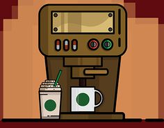 Vector Of Coffee Maker