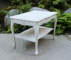 Vintage Shabby Chic French Provincial Side Table by ForgetMeNotsCottage, $195