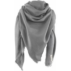 Milan scarf, 140x140cm, grey (€219) ❤ liked on Polyvore featuring accessories, scarves, gray shawl, grey shawl, grey scarves and gray scarves