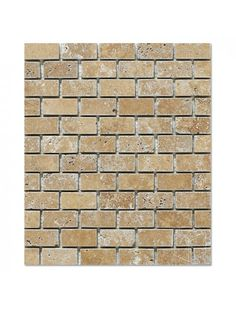 Marbleandthings is a leading US importer and wholesaler of Noce Travertine Brick Pattern Tumbled Mesh Mounted Mosaic Tile.