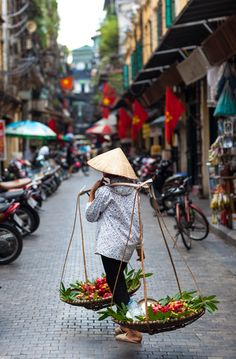 Old Quarter, Hanoi. Of the 36 streets that make up the Ancient Quarter, one of the best shops is Hang Quat; it sells an incredible array of lacque wood candle sticks, bowls, and decorative pieces. Since prices are very low, buy what you can. Like folk art in other developing nations, these unique Northern Vietnamese handicrafts will begin to die out along with the present generation of artisans creating them. Shops in Ho Chi Minh city are already filled with factory made schlock.