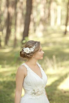 Lace flower and pearl bridal headpiece by LeFlowers Bridal | Love My Dress® UK Wedding Blog