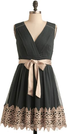 Vocal Celebrity Dress from ModCloth. Shop more products from ModCloth on Wanelo. Lace Bridesmaid Dresses, Prom Party Dresses, Grey Bridesmaids, Mod Dress, Lace Dress, Pretty Outfits, Pretty Dresses, Pretty Clothes, Chic Outfits