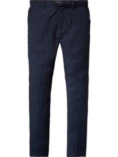 Stuart - Drawcord Dress Trousers | Regular Slim Fit