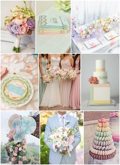 pretty pastel wedding ideas (Do you want to design your own Wedding and Engagement Rings? Call us at 866.300.4140 or chat us at www.brilliance.com)
