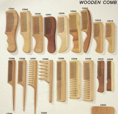 wooden combs - Google Search