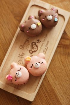 Bear Macarons made by coupe-feti    #food #kawaii #sweet #macaron #bento
