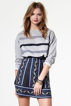 Cascading Wonder Knit Skirt Discover the latest fashion trends online at storets.com #Pocket Skirt  #Mermaid Skirt  #Yena Tassel Skirt
