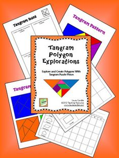FREE Tangram Polygon Explorations activity from Laura Candler's Teaching Resources on TpT - includes colorful, printable tangram patterns (& I thought these were puzzles) Ha! Math Strategies, Math Resources, Math Activities, Math Classroom, Classroom Ideas, Tangram, Math Night, Fun Math, Maths