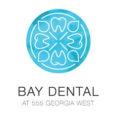 Bay Dental Logo - Downtown Vancouver Dental office. Logo design by Kilter marketing. http://kiltermarketing.com/