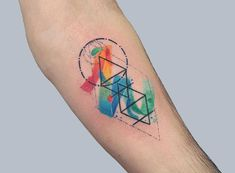 In the context of human society, a family (from Latin: familia) is a group of people affiliated either by consanguinity (by recognized birth), affinity (by marriage or other relationship), or co-residence. Geometric Tattoo Meaning, Geometric Watercolor Tattoo, Watercolor Tattoos, Geometric Tattoo Color, Geometric Tattoos, Abstract Watercolor, New School Tattoos, Brother Tattoos, Sibling Tattoos