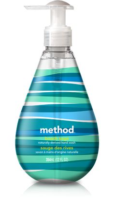 method gel hand wash in beach sage captures the essence of salty air, sage and eucalyptus in a non-toxic, naturally derived + biodegradable formula. Skincare Packaging, Cosmetic Packaging, Beauty Packaging, Cool Packaging, Packaging Design, Product Packaging, Safe Cleaning Products, Gel Designs, Oil Bottle