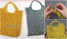 DEĞİŞİK TABANLI ÇİÇEKLİ FİLE ERZAK TORBASI YAPIMI Head Wrap Scarf, Loop Scarf, Easy Crochet, Knit Crochet, Crochet Baby Blanket Free Pattern, Crochet Market Bag, Moda Emo, Hardanger Embroidery, Knitted Bags