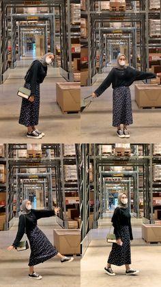 Modern Hijab Fashion, Street Hijab Fashion, Muslim Fashion, Casual Hijab Outfit, Ootd Hijab, Casual Outfits, Fashion Outfits, Hijab Trends, Modest Outfits