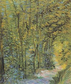 Path in the Woods 1887, Vincent van Gogh