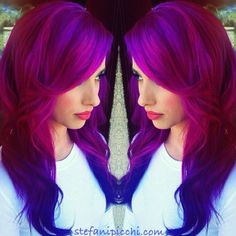 I wish I could do this with my hair. The bleaching required to achieve this vibrant color KILLS my hair though. sigh