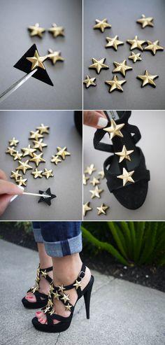 DIY Giuseppe Zanotti star sandals