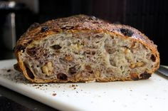 Jim Lahey's No-knead Raisin Walnut Bread - super easy and as good, if not better than, bought bread