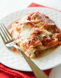 Classic Lasagna Recipe - Layers upon layers of noodles, sauce and lots of cheese!   browneyedbaker.com