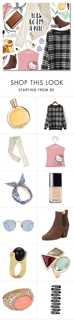 """""""Let's Go Fly A Kite"""" by talukder ❤ liked on Polyvore featuring Hermès, Levi's, Hello Kitty, Chanel, Ray-Ban, rag & bone and yoins"""