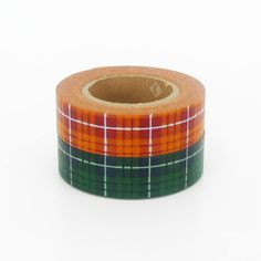 mt Washi Masking Tape  Green & Orange Tartan Check  by craftyjapan, $8.00