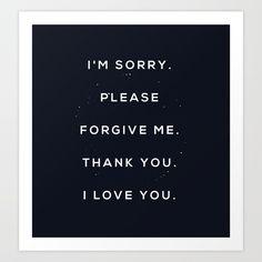 Hoʻoponopono Art Print by borisgunis I Love You, My Love, Forgive Me, Forgiveness, Letter Board, Lettering, Art Prints, L Love You, Love You