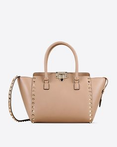 Valentino Online Boutique - Valentino Women Rockstud Small Double Handle Bag