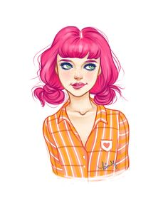 Pink || CHARACTER DESIGN REFERENCES | www.facebook.com/...