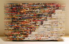 Another great recycled magazine piece from Marang Studios; recycled magazine to large beads