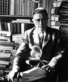 Jean-Paul Sartre Albert Schweitzer, Feminist Theory, Jean Paul Sartre, Writers And Poets, Albert Camus, Book Quotes, Old Photos, Author, Black