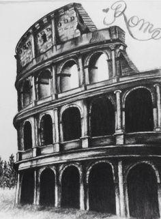 The Colosseum drawn my Emily Cloninger www.ecloningerart.com