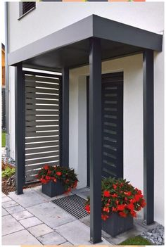 Siebau offers you customized canopies / entrance roofing for Siebau provides you with customized canopy / entrance roofing for your front door Fantastic back and front yard landscape designs Most amat Front Door Canopy, Front Door Decor, House Entrance, Entrance Doors, Door Design, House Design, Gazebos, The Doors, Front Doors