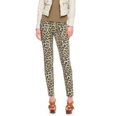 Michael Kors Leopard-Print Zip Skinny Jean