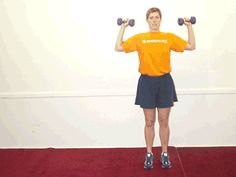 This full-body exercise saves time by engaging your entire lower body as well as your arms and shoulders.