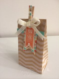 StampIN-K   Stampin' Up! Tag a bag gift bag