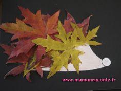 Hérisson en feuille d'automne - étape 9