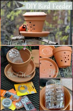 89 Unique DIY Bird Feeders - Full Step by Step Tutorials - Page 3 of 6 - DIY & Crafts Source by blin Homemade Bird Houses, Homemade Bird Feeders, Diy Bird Feeder, Unique Bird Feeders, Bird House Feeder, Bird House Plans, Bird House Kits, Patio Diy, Diy And Crafts