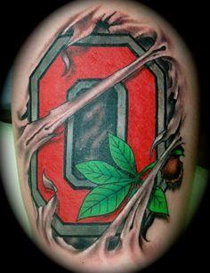 Ohio State Tattoo  #JeremiahHanzey #Stainedskinsecondskin