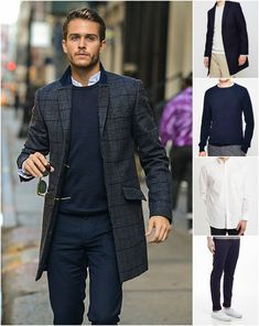 How to wear a crew neck navy jumper | Read the article now or shop the look at The Idle Man | #StyleMadeEasy