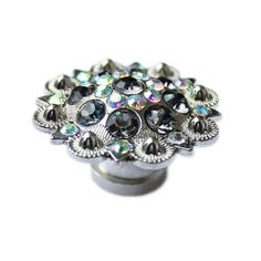 Hey, I found this really awesome Etsy listing at https://www.etsy.com/listing/207390157/crystal-drawer-knob-with-grey-and