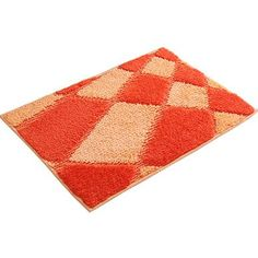 Absorbent Nonslip Door Mat Entrance Mat Doormat Floor Entry Mat Rug, Orange